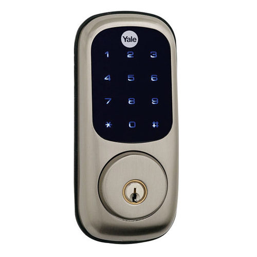 Yrld220zw619kwkd Yale Z Wave Touch Screen Deadbolt Satin