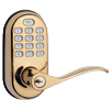 Yale Z-Wave Push Button Lever Bright Brass
